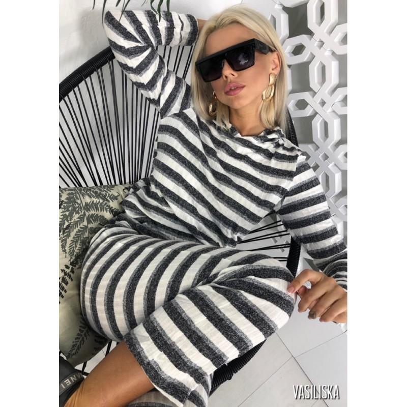 Костюм Зебра серый/белый