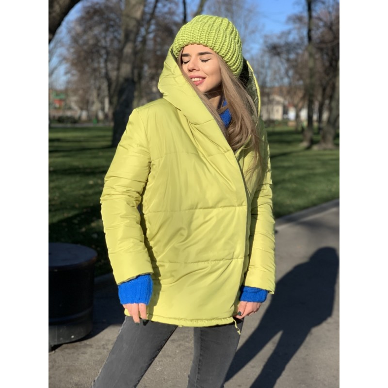 Куртка Зефирка двусторонняя оливковый/хаки