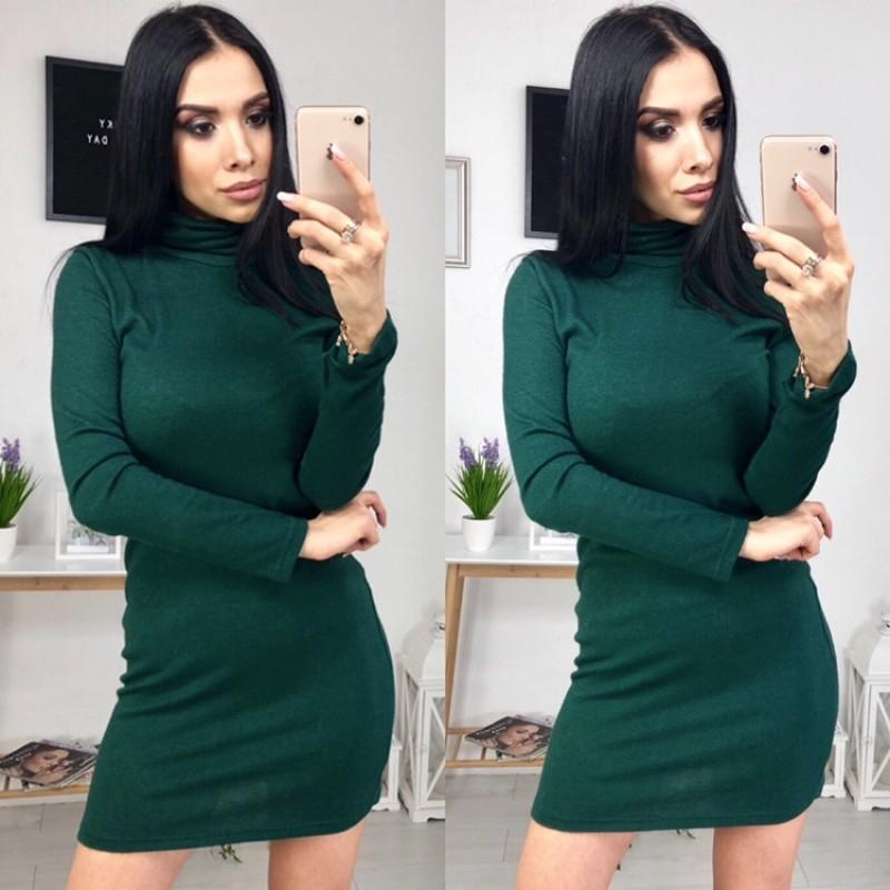 Платье-гольф из ангоры бутылка