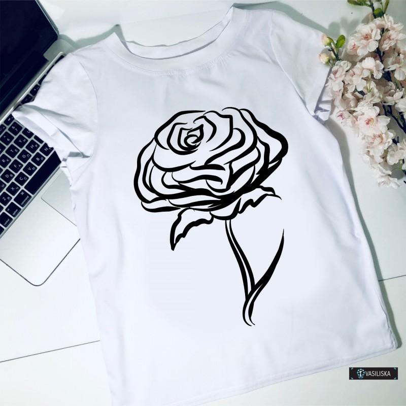 Футболка Роза белая