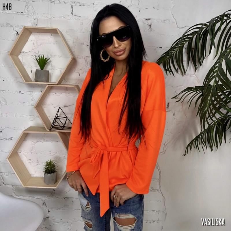 Жакет-кимоно морковный