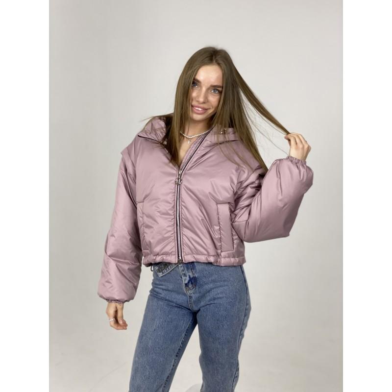 Куртка-жилетка с капюшоном фрезовая
