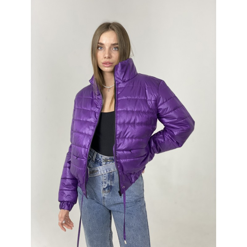 Куртка стеганная оверсайз фиолетовая