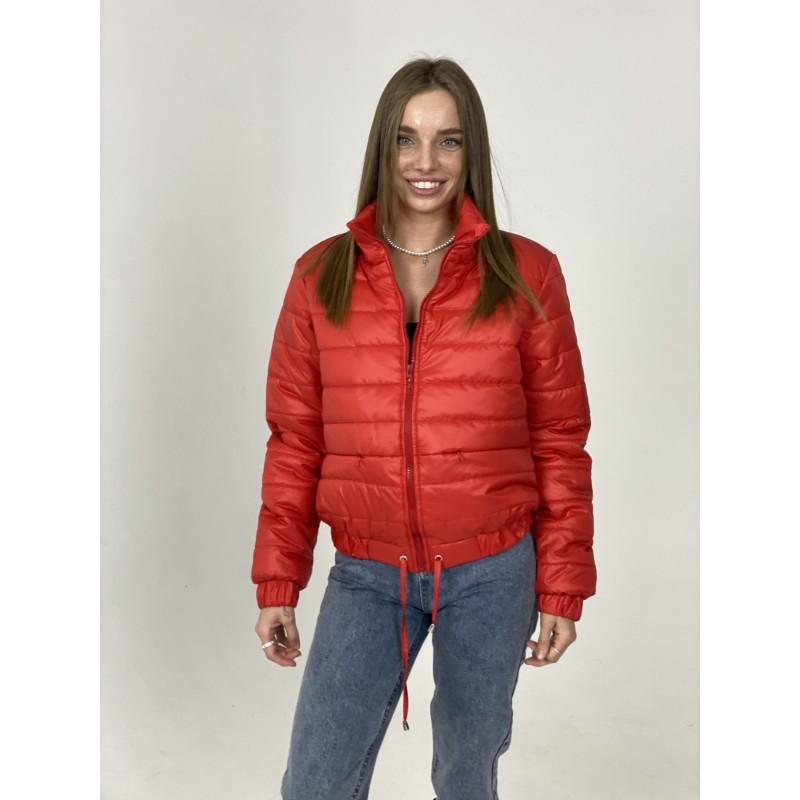 Куртка стеганная оверсайз красная