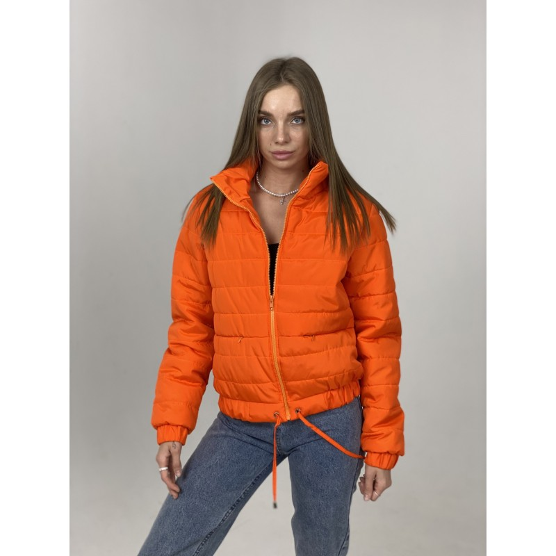 Куртка стеганная оверсайз оранжевая