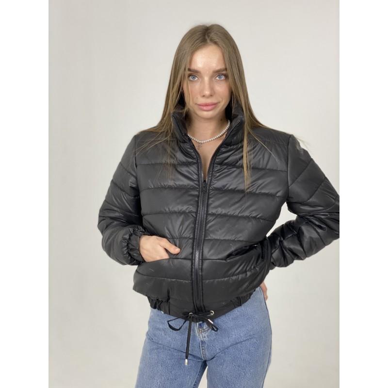 Куртка стеганная оверсайз черная