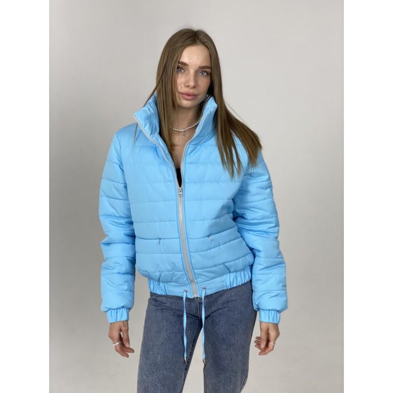 Куртка стеганная оверсайз голубая