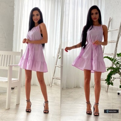 Платье-сарафан с регулируемыми бретелями сиреневый