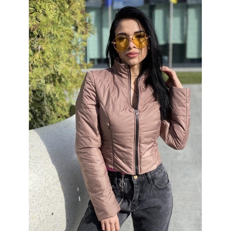 Куртка короткая с потайными кармана капучино