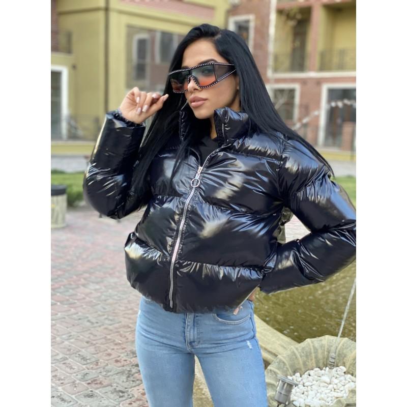 Куртка-пуховик на молнии черный монклер